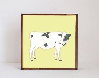 farmhouse nursery art, cow print, copper nursery decor, barnyard animals, animal prints, nursery decor, farm nursery, redtilestudio