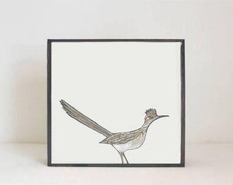 roadrunner southwestern nursery art -bird wall art- animal prints- gender neutral baby-boho southwest nursery- boho, redtilestudio