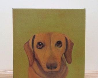 dog painting, pet art,  pet portrait- custom 8x8 painting of your pet- dog portrait-gift idea for pet lovers-dog lover gift- redtilestudio