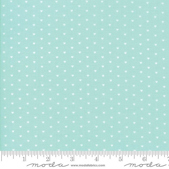 Bonnie and Camille The Good Life Whole Heart Dark Blue Spot Moda Quilting Cotton