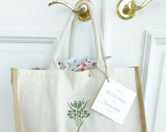Customized Wedding Welcome Tote Bags