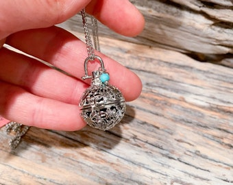 Essential Oil Diffuser Ball Necklace