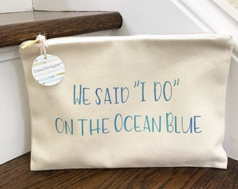 Customized Makeup Bag // Cosmetic Tote // For Brides & Bridesmaids