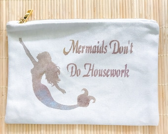 Mermaid Bridesmaids Gift Case// Cosmetic Tote