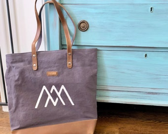 Customized Tote Bags // Leather & Canvas