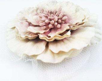 Bridal Ivory Flower Hair Clip