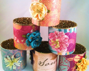 Wedding Candle Holders // Tea Light or Votive // Festive and Unique Wedding & Party Candles