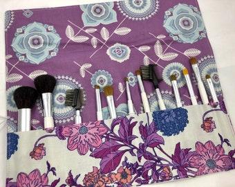 Make Up Brush Holder, Makeup Brush Roll, Makeup Brush Organizer, Makeup Brush Bag, Makeup Brush Case - Avalon Hazel Berry
