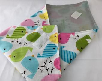 Reusable Sandwich Wrap Bag, Girls Sandwich Mat, Bird School Lunch - Birds Spring