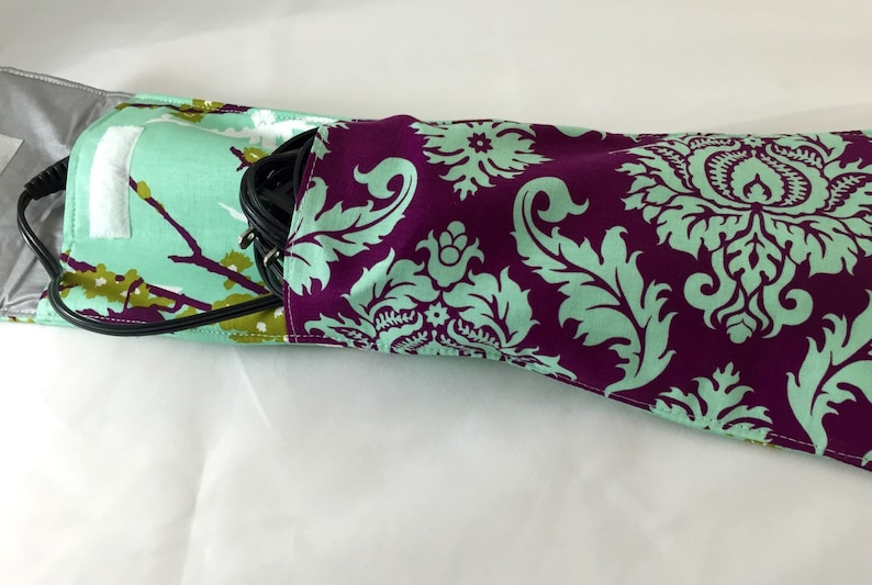 Curling Iron Case Hair Straightener Curling Iron Cover Curling Iron Sleeve Sparrows in Plum Travel Flat Iron Case Flat Iron Holder