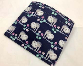 Reusable Snack Bag - Reusable Baggie - Sloths Snack Bag - Fabric Snack Bag - Reusable Fabric Snack Bag - Sloths in Trees