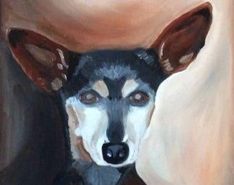 Custom made dog portrait