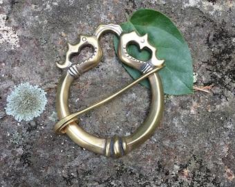Outlander Inspired , Viking Shawl Pin , Celtic Clasp , Penannular Brooch