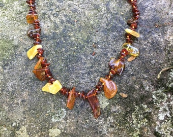 Tribal Baltic Amber Necklace