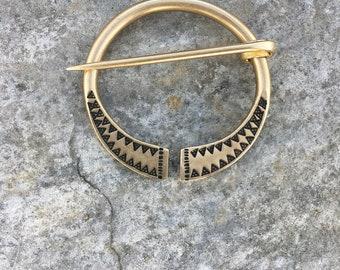 Viking Shawl Pin Celtic Penannular Brooch