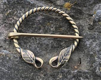 Hobbit , Leaf , Celtic , Shawl Pin , Viking Brooch