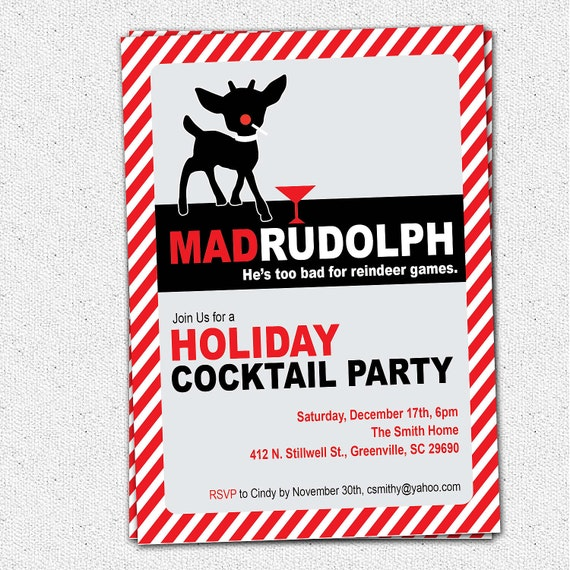mad rudolph the red nosed reindeer funny christmas holiday