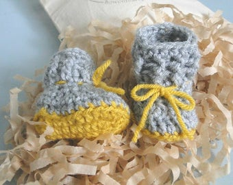 Pregnancy Announcement, Pregnancy Reveal Grandparents, For Daddy, Booties in a Bag, Baby Shower, Baby Gift, Comes in Cotton Keepsake Bag