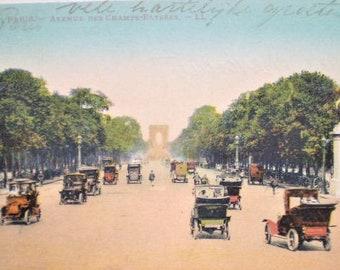 Paris - Early 1900s - Avenue des Champs Elysees - Antique French Postcard 70ed13d6ef327