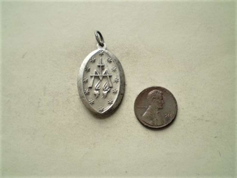 40mm Praying Woman Charm Silver Yellow Plated Mother Mary