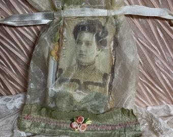 Junk journal Accessories, matchbook notebooks, mini notebook, altered paper clip in a decorative bag