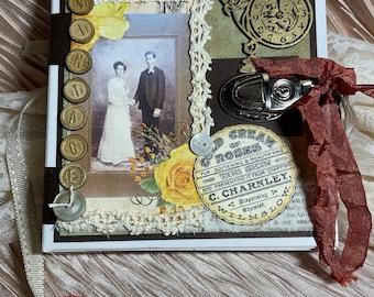 Keepsake pocket book, Memorabilia book, photo book, a gift for her