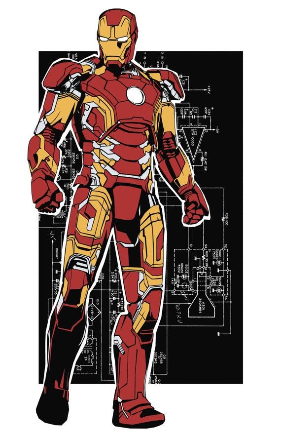 Iron Man And Schematics Etsyrhetsy: Iron Man Schematics At Gmaili.net