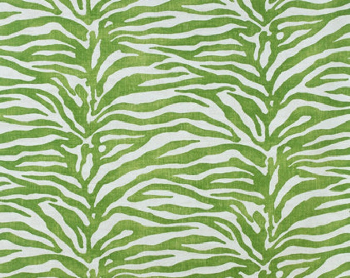 Thibaut Serengeti in Green (on Both Sides) Designer Pillow Cover with or without Piping- Square, Lumbar and Euro Pillow Cover Sizes