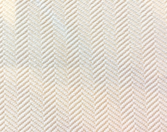 Schumacher Paloma Herringbone  in Coconut (on Both Sides)  Indoor Outdoor Pillow Cover - Square, Lumbar and Euro Sizes