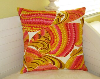 Schumacher Trina Turk Pisces in Punch on Both Sides Indoor Outdoor Pillow Cover