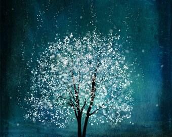 Spirit of Water.tree art print.blue-tree art print giclee print, tree art,print,gift,art collectibles,wall art,wall decor,wall decor
