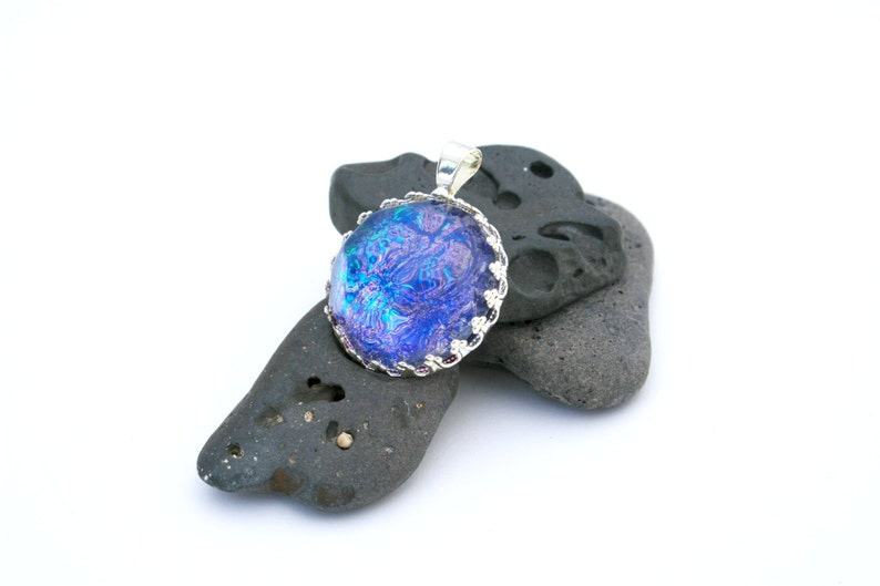 Cobalt Blue Teal and Purple Color Shifting Pendant  image 0