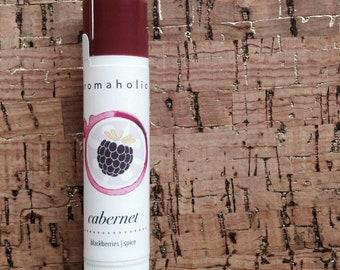 Cabernet lip balm - blackberries and spice flavored lip balm - wine flavored lip balm - Cabernet wine lip balm - wine gift