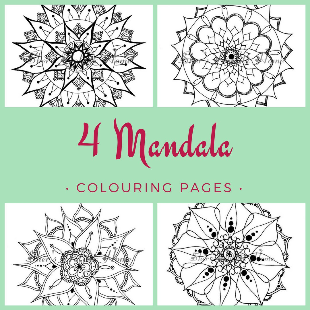 Mandala coloring pages mandala coloring coloring pages | Etsy