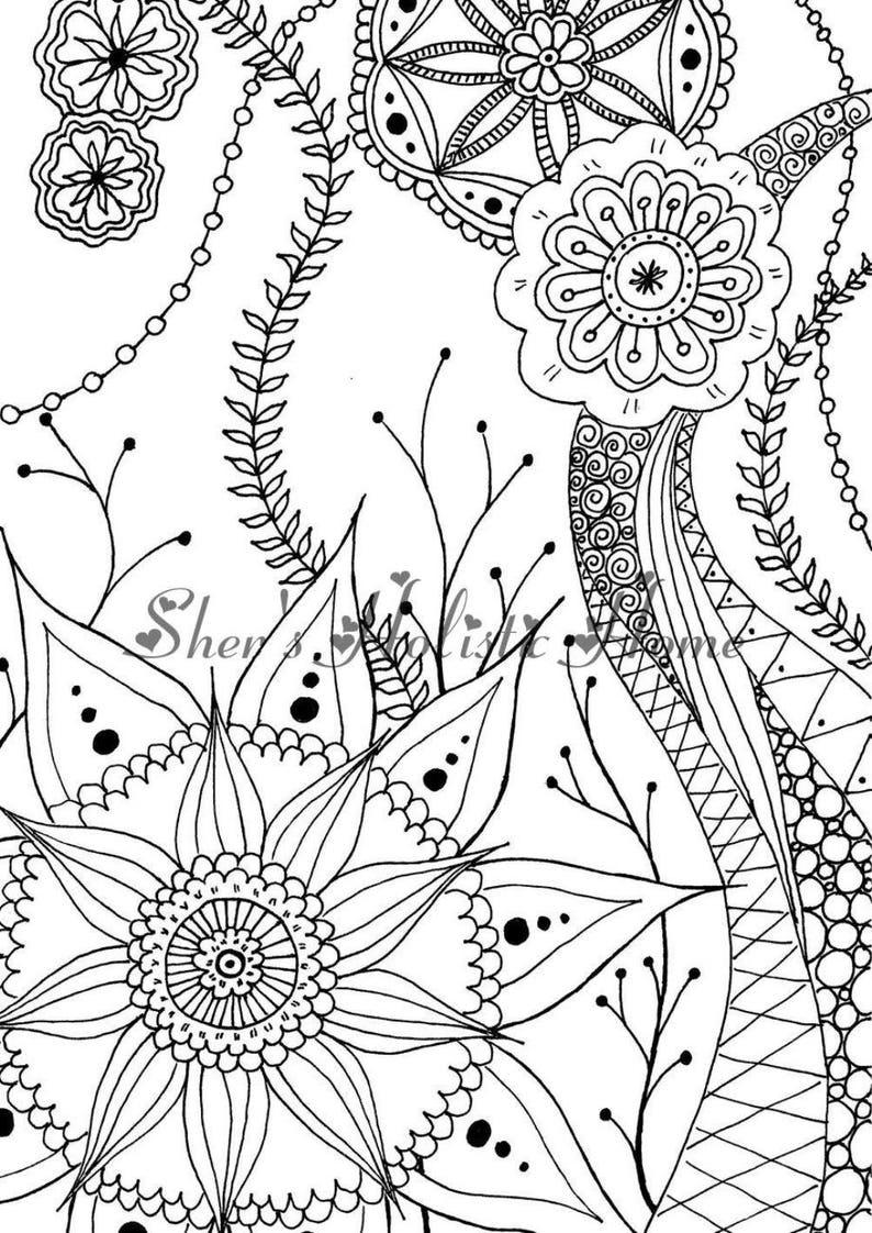 mandala malvorlagen kinder färbung seite blume coloring  etsy