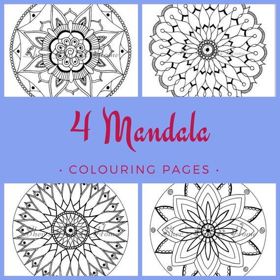 Kleurplaten Voor Volwassenen A4 Formaat.Voor Kinderen Kleurplaat Set Kleurplaat Voor Volwassenen Kinderen Kleurplaten Pagina Kinderen Verjaardag Activiteit Mandala Bloem Afbeeldingen In