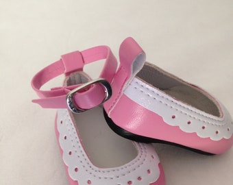 Shoes fit 18 inch American Girl Dolls, Pink Dress shoes