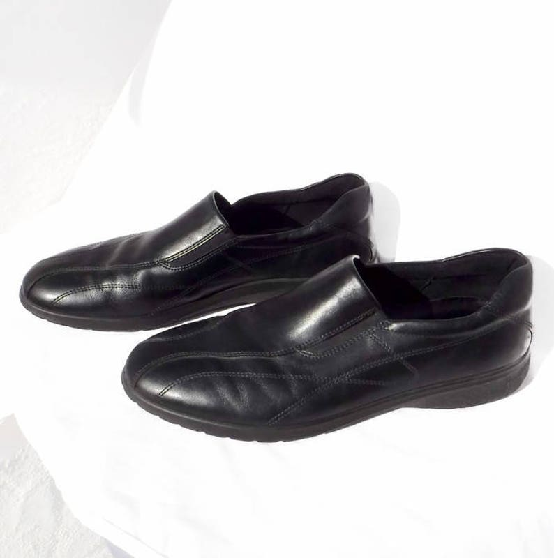 4ed3aecfec Black Leather Women's Shoe Ecco Size 43 11 1/2 Medium Loafer Dress Shoe  Never Worn