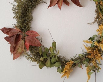 Herbal Wreath - Sweet Annie Wormwood, Goldenrod, & Leaves
