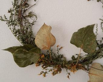 Wildflower Wreath - St. John's Wort and Black Cottonwood