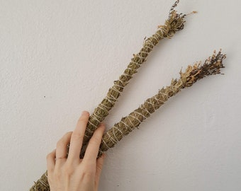 2 Smudge Wands - wild gathered cedar and hyssop