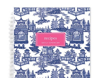 Personalized Recipe Book – Spiral Recipe Book with Blank Recipe Sheets and Personalized with Name Makes Ideal Gift for Cook Recipe Cards