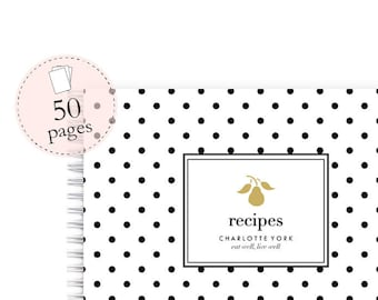 Personalized Recipe Book – Spiral Recipe Book with Blank Recipe Sheets and Personalized with Name Makes Ideal Gift for Cook Recipe Cards A5