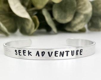 Seek Adventure Bracelet, Travel Bracelet, Travel Jewelry, Adventure Bracelet, Adventure Jewelry, Outdoor Jewelry, Nature Jewelry
