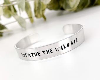 Breathe The Wild Air, Adventure Bracelet, Adventure Jewelry, Gift for Traveler, Outdoor Jewelry, Wanderlust Bracelet, Mountain Jewelry