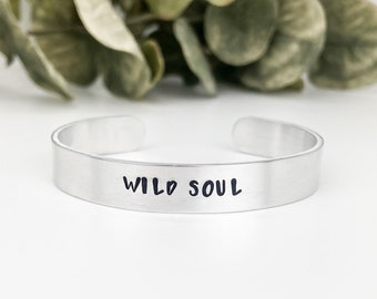 Wild Soul Bracelet, Boho Adventure Bracelet, Soul Sister Gift, Wild and Free, Gifts under 20, Travel Jewelry Gift, Adventure Cuff