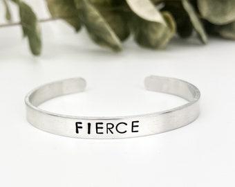 Fierce Bracelet, She Is Fierce, Fierce Jewelry, Feminist Bracelet, Girl Power Bracelet, Girl Power Jewelry, Motivation Jewelry