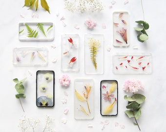 Ready to Ship - Pressed Flower iPhone Case - Real Flowers Foliage - iPhone 6 6s iPhone 7 iPhone SE 5 iPhone 8 Case and Plus - Galaxy S6 Edge