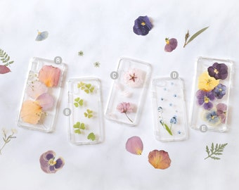 Pressed Flower iPhone Case - Ready to Ship SALE - Real Flowers Foliage, iPhone 6s iPhone 7 iPhone 8 Plus iPhone X Xs XR iPhone XS Max Case
