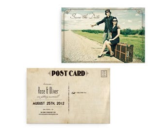 """Photo save the date, Save the Date Card,  Save the Date Postcard, Save the Date Card - the """"Rose"""""""